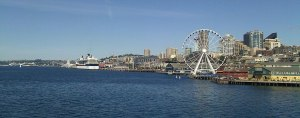 The beautiful Seattle waterfront in the September sun